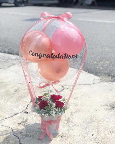 Cheerful balloon box