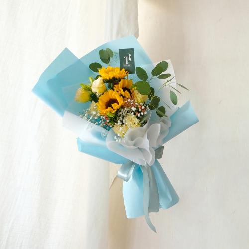 Sunflower with Eustoma