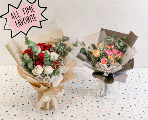 Vintage Special Bouquet - Just Roses