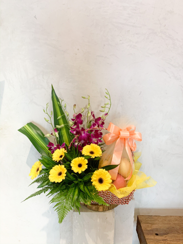 Fruits Flowers Basket