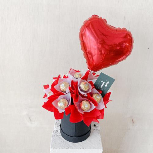 Box Of Ferrero & Balloon
