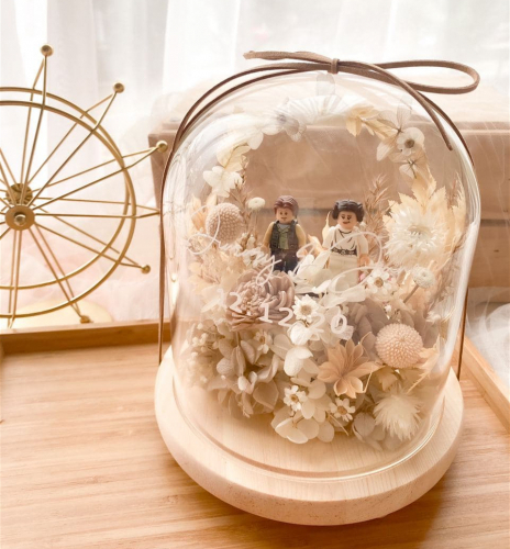 Infinity Love Preserved Flower Bell Jar