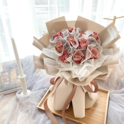 Brynn Cappuccino Rose Bouquet