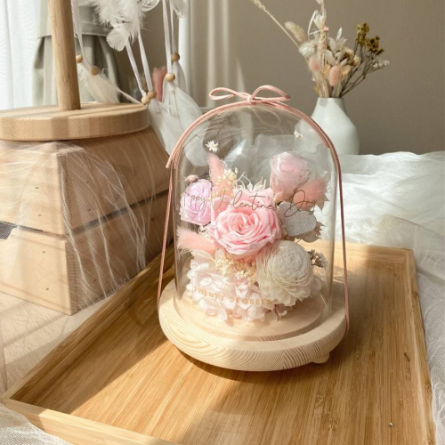 Elena Preserved Flower Bell Jar