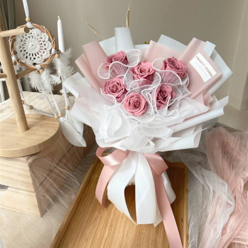 Heart Preserved Flower Bouquet