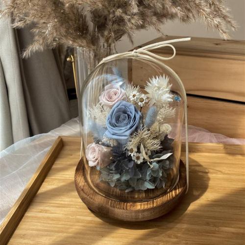 Riley Preserved Flower Bell Jar
