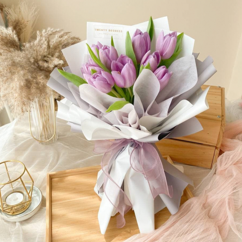 Jasmine Tulips Bouquet