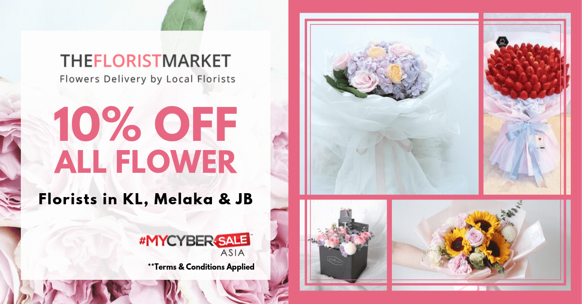#MYCYBERSALE Kuala Lumpur(KL), Melaka, Johor Bahru (JB) Flower Bouquets Promotion