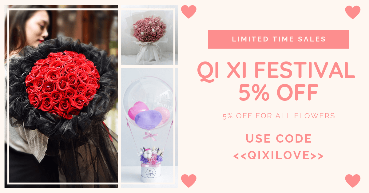 Chinese Valentine's Day Flower Bouquets